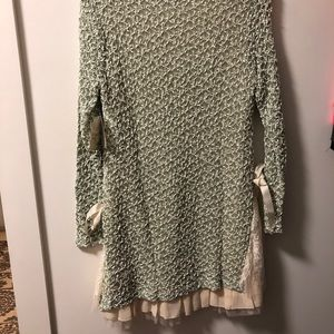Altar'd State Dresses - Altar'd State green and cream sweater dress.
